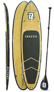 crazzie bamboo stand up paddle board