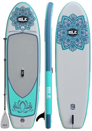isle lotus yoga paddle board