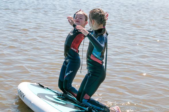 teach kids to stand up paddle board