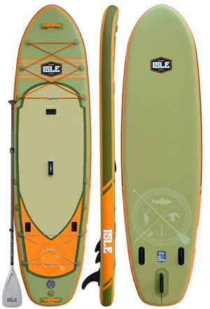 isle sportsman inflatable fishing sup board