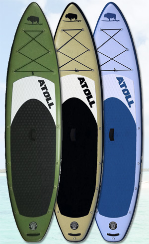 atoll best inflatable sup board