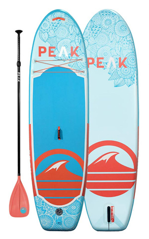 peak yoga paddle board