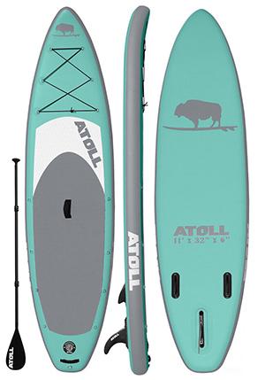 atoll aquamarine best women paddle board